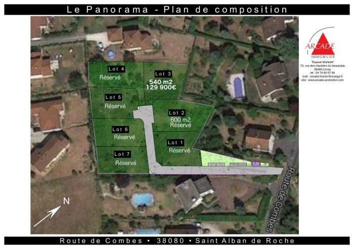 Terrain Saint-Alban-de-Roche  0 m²  pièces