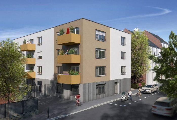 Vente de Appartement 2 chambres - 3 pièces - 60 m² à ARMENTIERES (59280)
