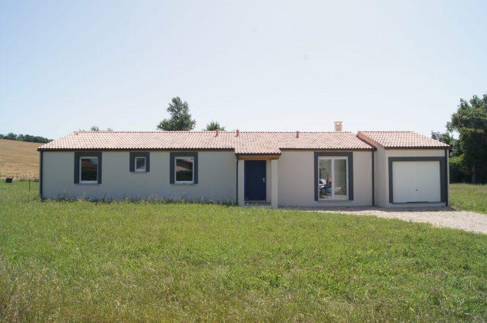 Maison neuve plain pied rt 2012 sur 2500 m2 de terrain for Prix m2 maison rt 2012