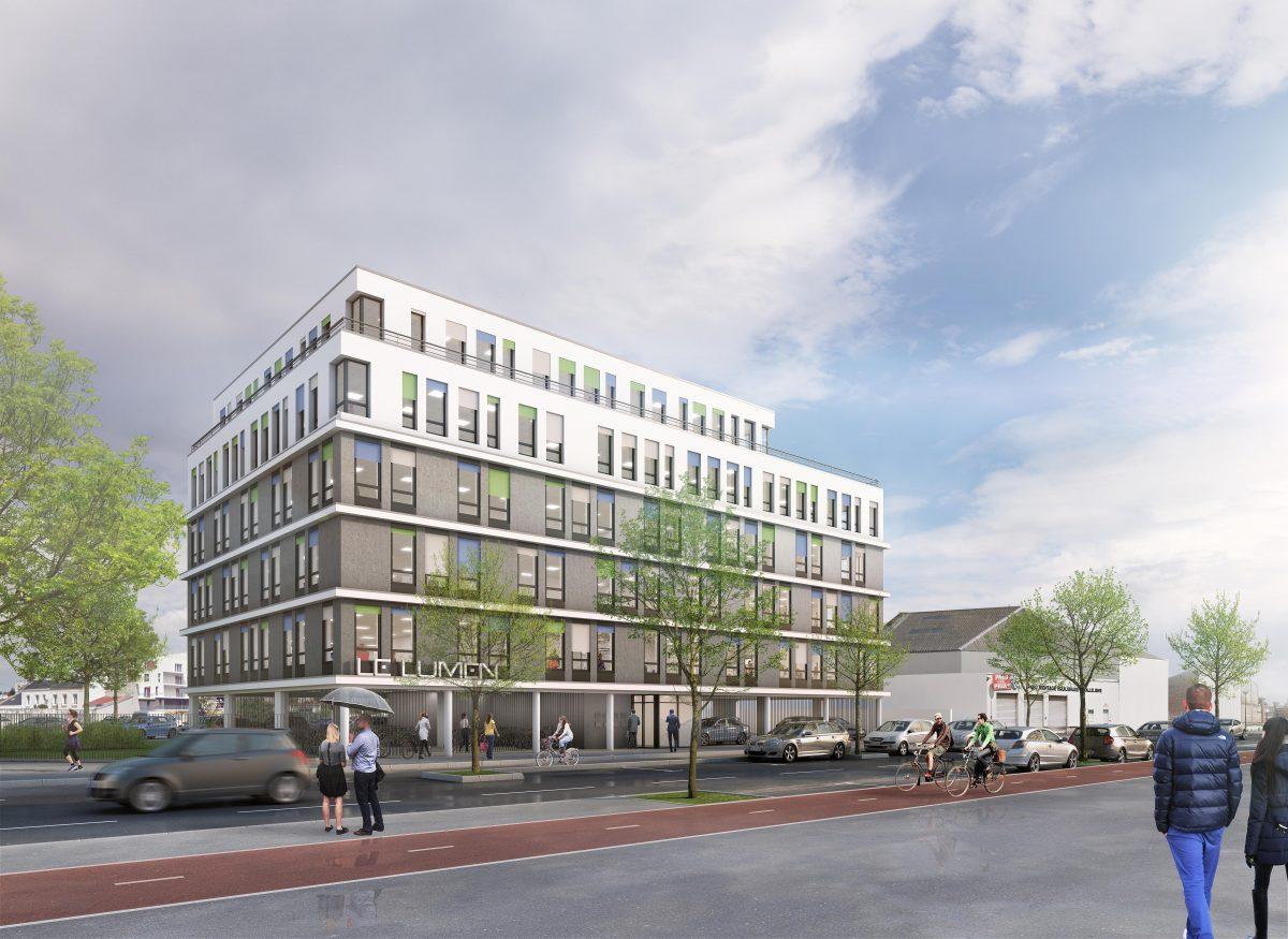 a vendre immeuble de bureaux neufs avec parking le havre. Black Bedroom Furniture Sets. Home Design Ideas