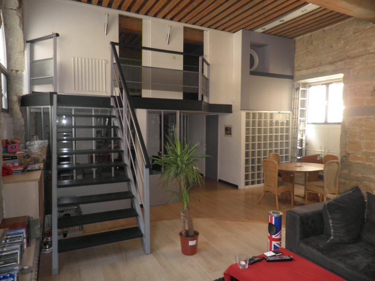 Croix rousse loft 3 4 pi ces lyon les chasseurs de pierre - Entrepot a vendre lyon ...