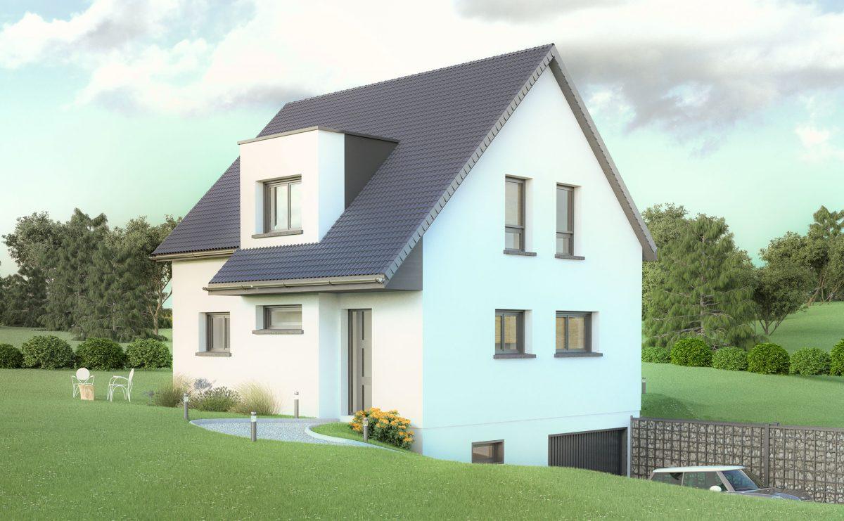 Zimmersheim maison individuelle neuve f5 zimmersheim for Maison individuelle neuve