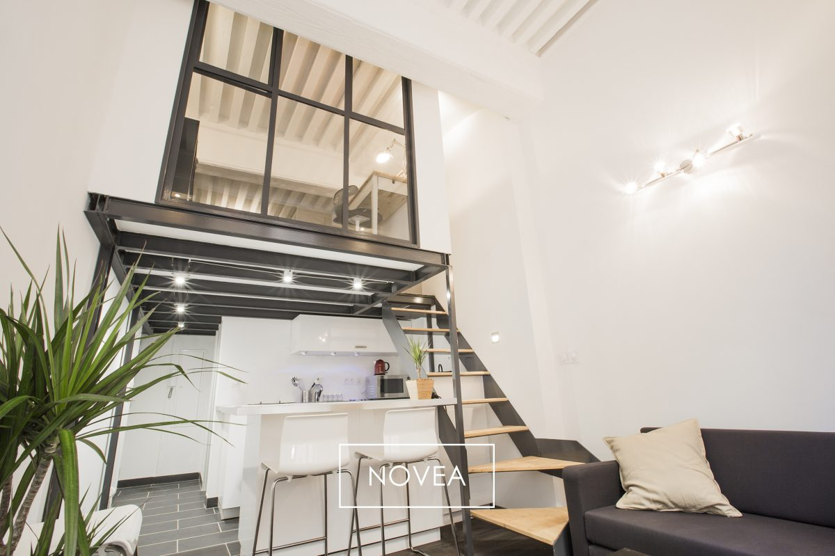 Agence immobiliere novea lyon t2 duplex 30 m2 lyon 1er 169 000 id al - Appartement lyon a renover ...