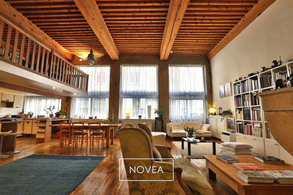 Loft 226 m2 au coeur de la croix rousse 5 chambres lyon for Agence appartement lyon