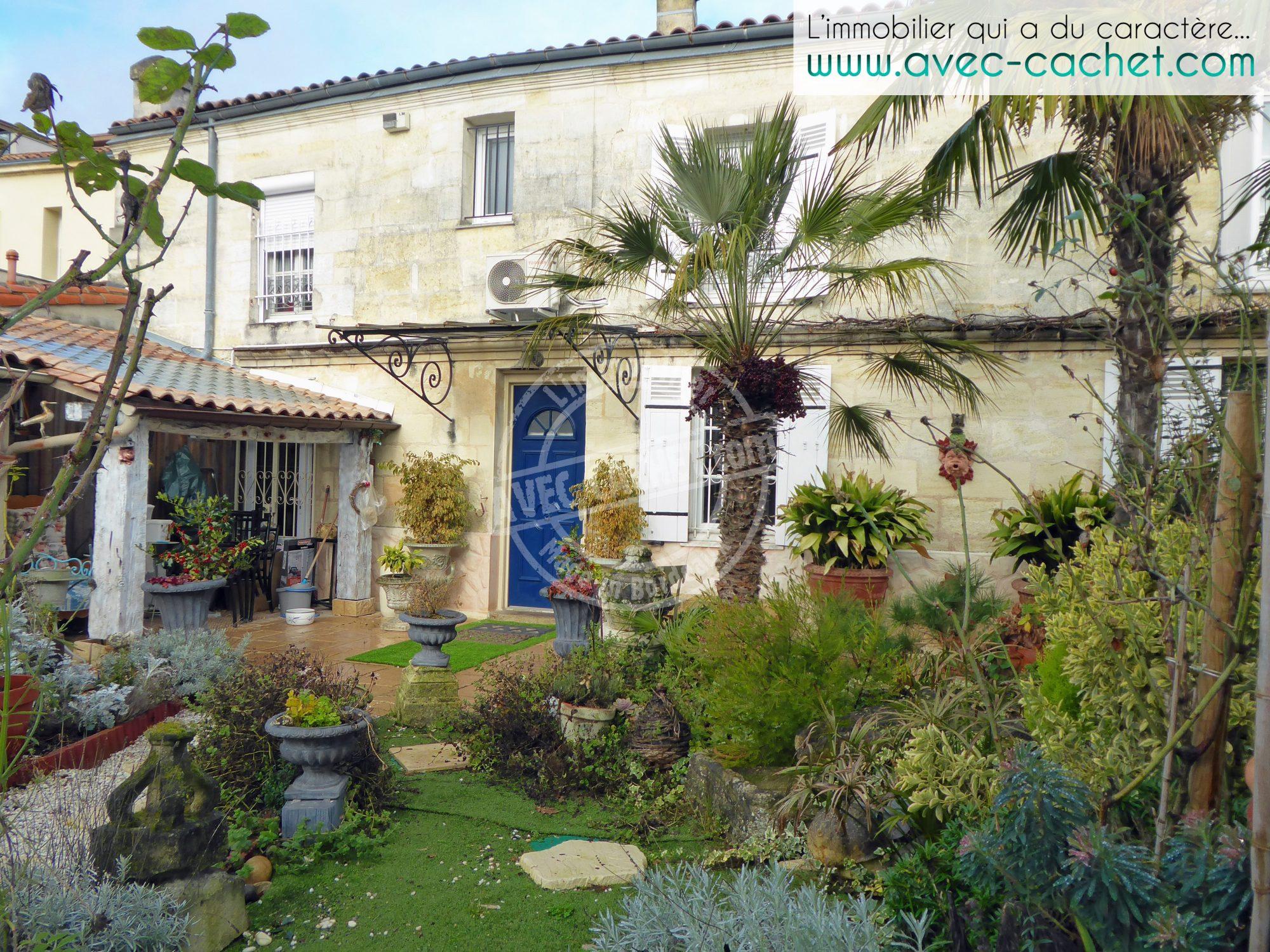 Bordeaux caud ran maison en pierre avec studio jardin for Immobilier bordeaux et environs