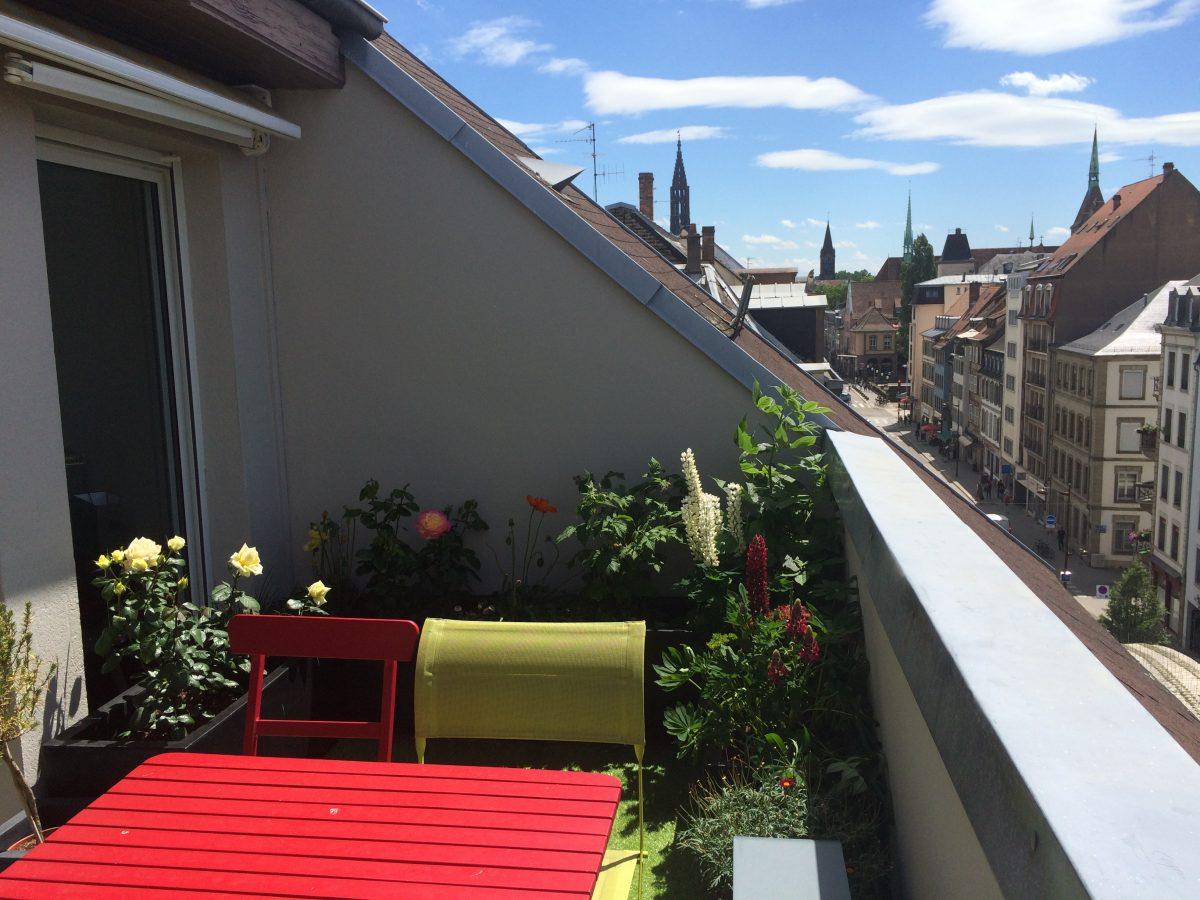 Strasbourg tribunal duplex esprit loft avec terrasse for Garage strasbourg neudorf