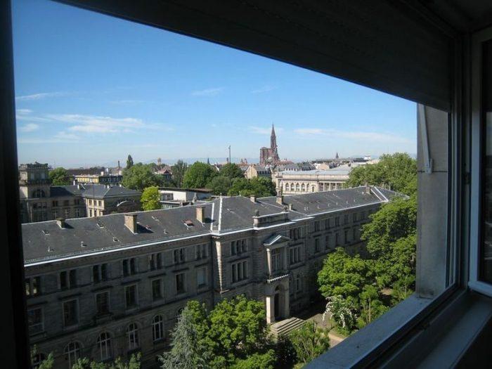 photo de Strasbourg face jardin