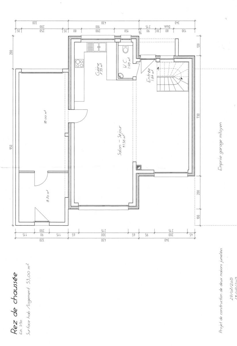 Maison mitoyenne plan projet maison mitoyenne u2013 - Plan maison de ville mitoyenne ...