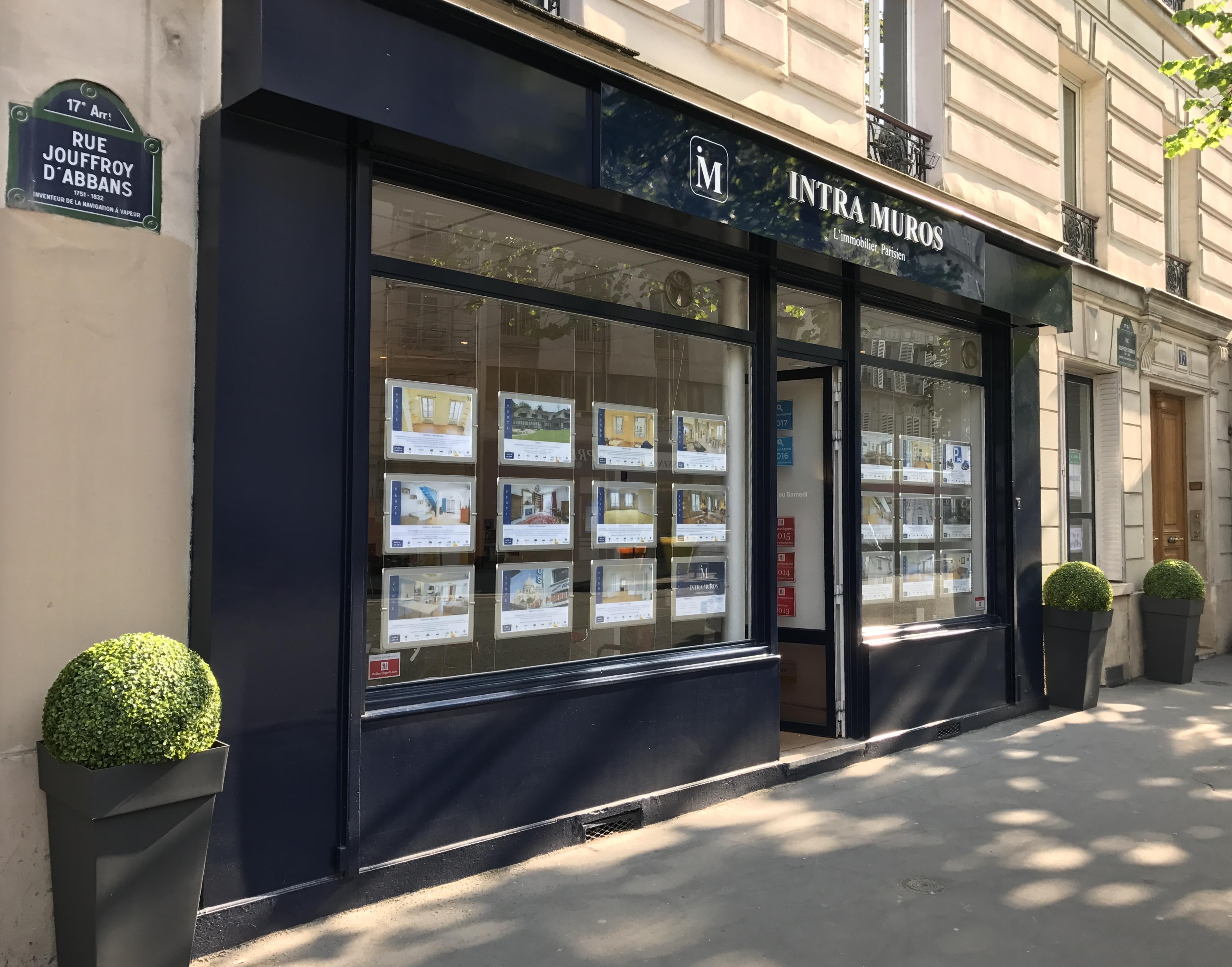 Agence Immobilière INTRA MUROS, L'immobilier Parisien - 17, rue Jouffroy d'Abbans 75017 PARIS - IMMOBILIERE PARIS 17 - 01 75 43 18 90