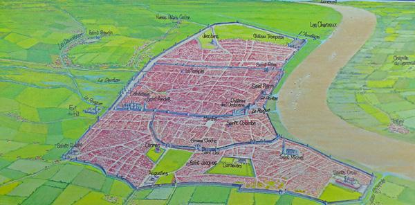 Les 3 enceintes de la ville